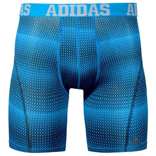 adidas Men's 9-Inch Sport Performance ClimaCool Graphic Midway Underwear, Box Blend Solar Blue Print, X-Large/Waist Size 40-42