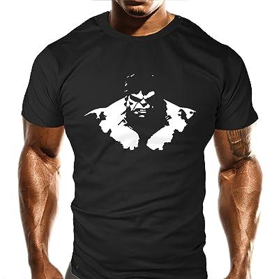 T-Shirt de Gym, motif animal grognon, T-shirt de musculation, haut d'entraînement, sports, haut de musculation décontracté, coupe ample, drôle, Taille S, M, L, XL, XXL, 2XL, 3XL
