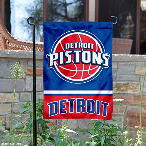 Detroit Pistons Double Sided Garden Flag