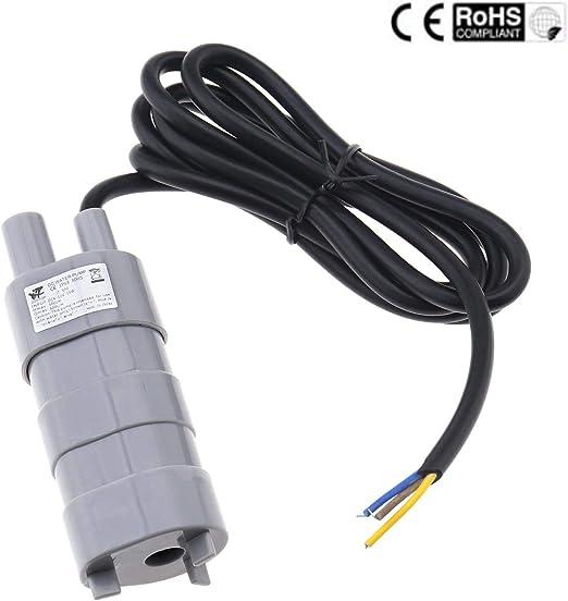 Create Idea - Bomba de Motor Sumergible CC 12 V con Cable de 4,6 ...