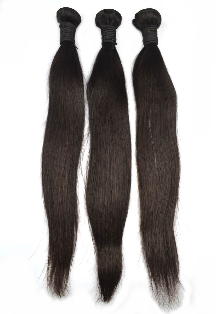 Amazon Angel Hair 3 Bundles Virgin Peruvian Straight Hair Sew