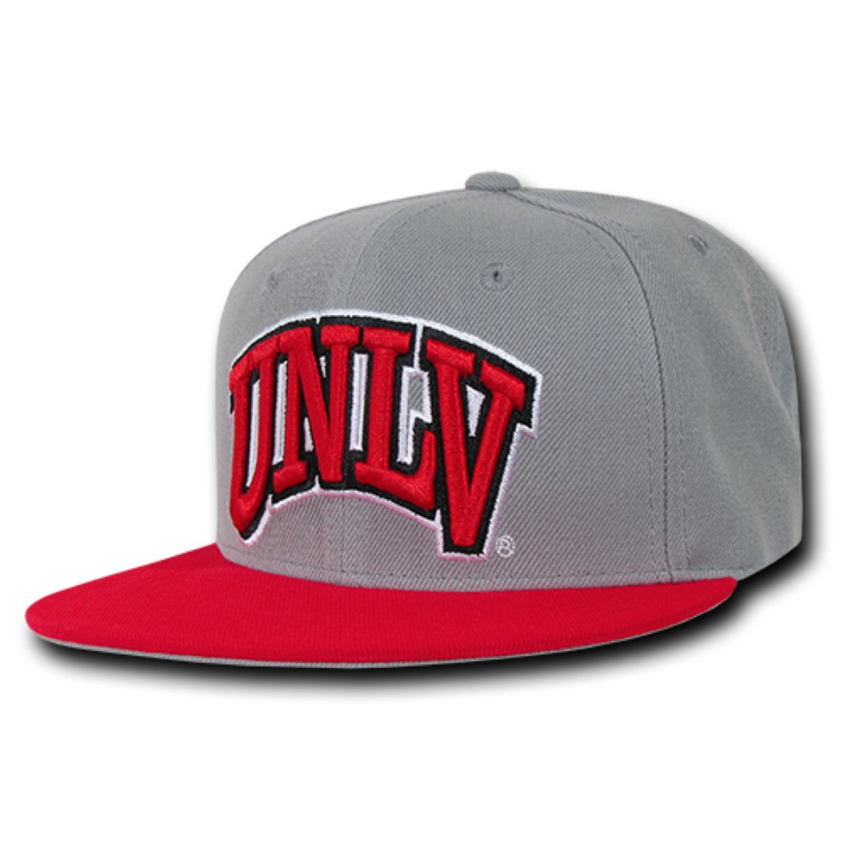 One Size Grey Red W Republic Apparel Mens College Snapback