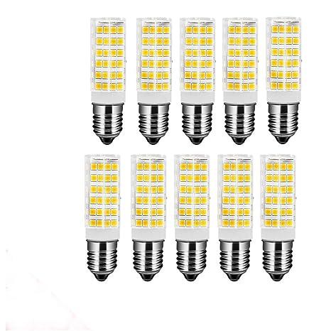 OUGEER Pack de 10 Bombillas LED E14 7W,Blanca Cálida 3000K, AC 220-