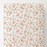 Carousel Designs Pink Hawaiian Floral Toddler Bed Sheet Fitted