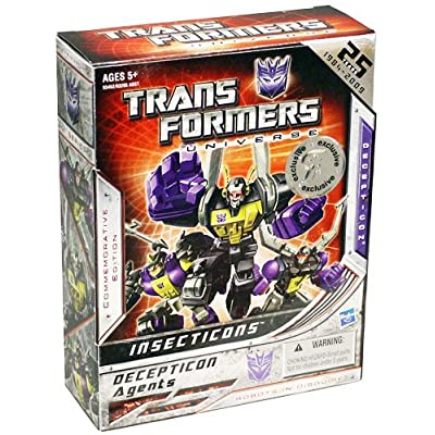 Insecticons Exclusive Transformers Universe 25th Annaversary Action Figure: Toys & Games