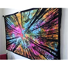 Exclusive Tie Dye Locust Trees Forest Tapestry