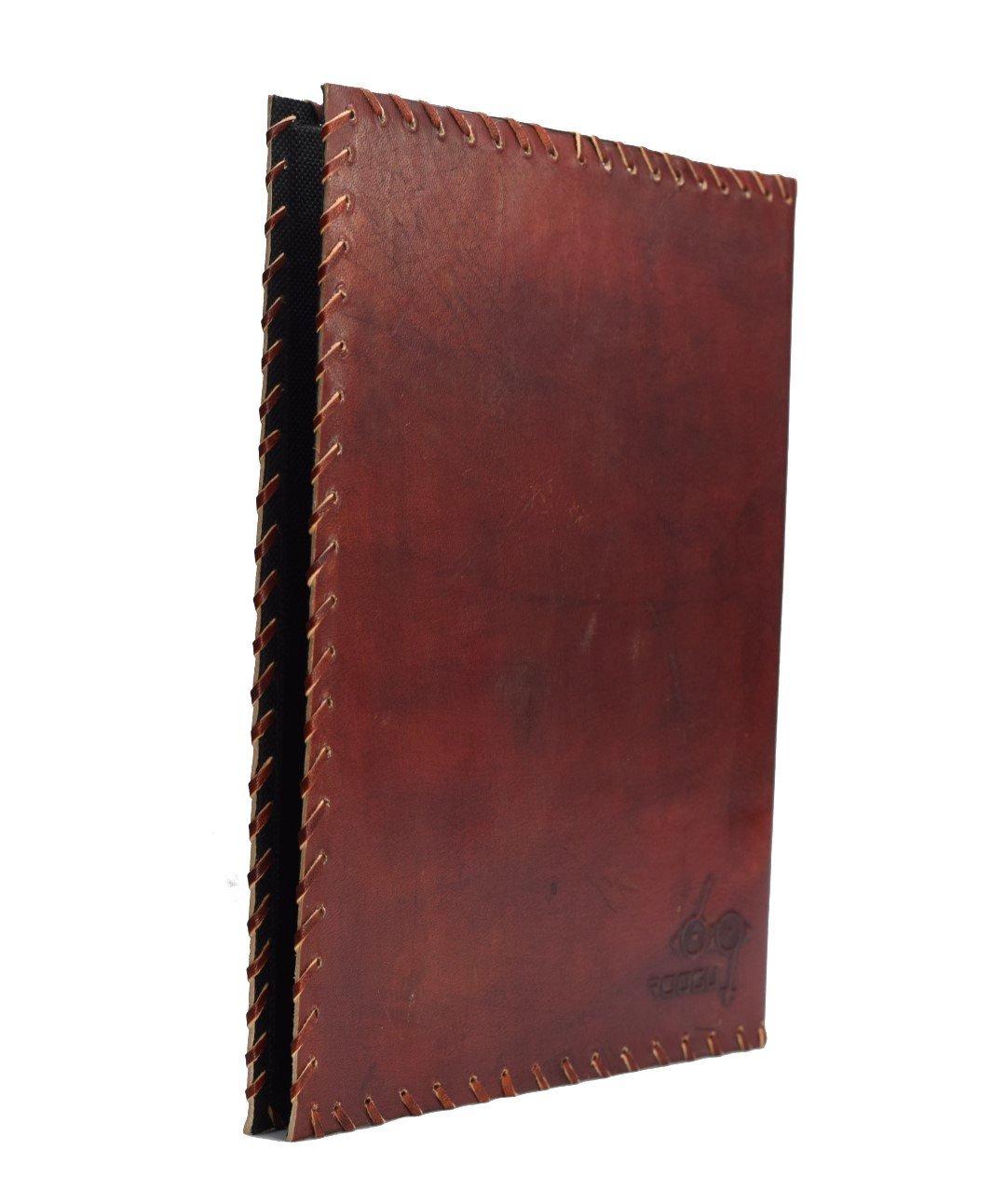 Themis Archivador Anillas A4 Cuero Piel Genuina Hecho Mano India Notario Abogado: Amazon.es: Oficina y papelería