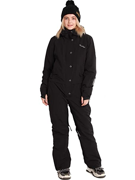 Womens Snow Suit One Piece >> Bluemagic Women S One Pieces Ski Suits Jumpsuits Coveralls Winter Outdoor Waterproof Snowsuits For Snow Sports