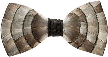 a8ba3b991e5c Brackish Feather Pre-tied Bow tie - Lynx (162-BRK)