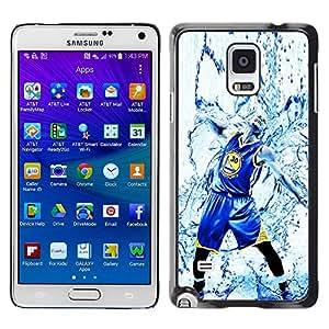 Samsung Galaxy Note 4 IV / SM-N910 , Radio-Star - Cáscara Funda Case Caso De Plástico (Warriors Basketball Splash)