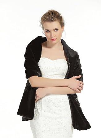 70cce94abc Shawl Wrap Faux Fur Shrug Stole Scarf Winter Bridal Wedding Cover Up:  Amazon.co.uk: Clothing