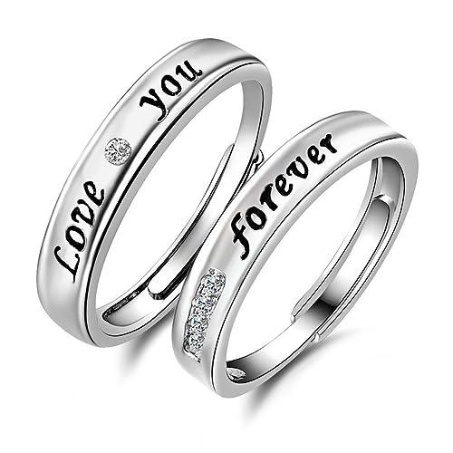 925 Minalo Plata esterlina anillos ajustables de anillos de ...