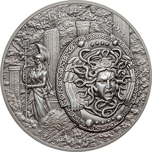 3e4b2a31653c5 Shield of Athena Aegis Mythology 2 Oz Silver Coins 10$ Cook Islands 2018