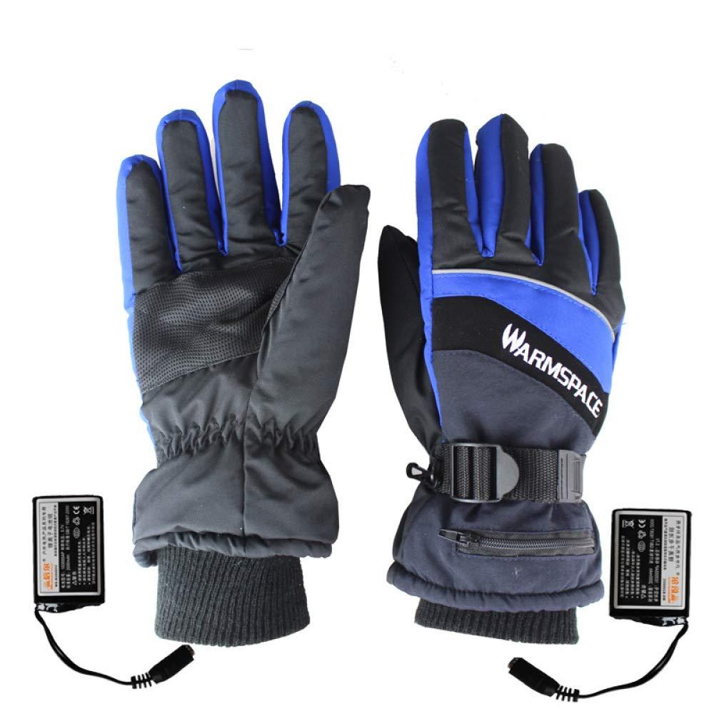 LBAFS Outdoor-Thermische Elektrische Heizung Handschuhe Handwärmer USB-Lade-Rutschfeste Ski Wasserdicht Für Ski USB-Lade-Rutschfeste Radfahren Für Männer Und Frauen,Orange-M 0f9799