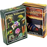 2-pack Edible Wilderness and Wilderness Survival Playing Cards