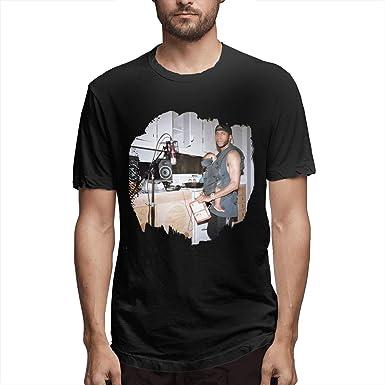 BE-AUTIFUL 6LACK Mens Casual Short Sleeve T-Shirt Black