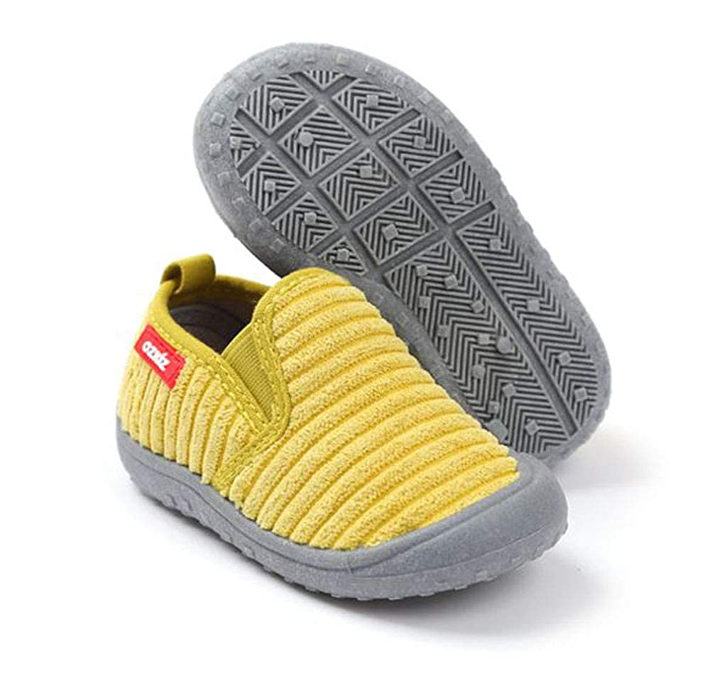 Ozkiz Soft Roy Unisex Girls and Boys Little Kids and Toddlers Comfortable Pink Mustard Yellow Black Grey Slip on Sneakers