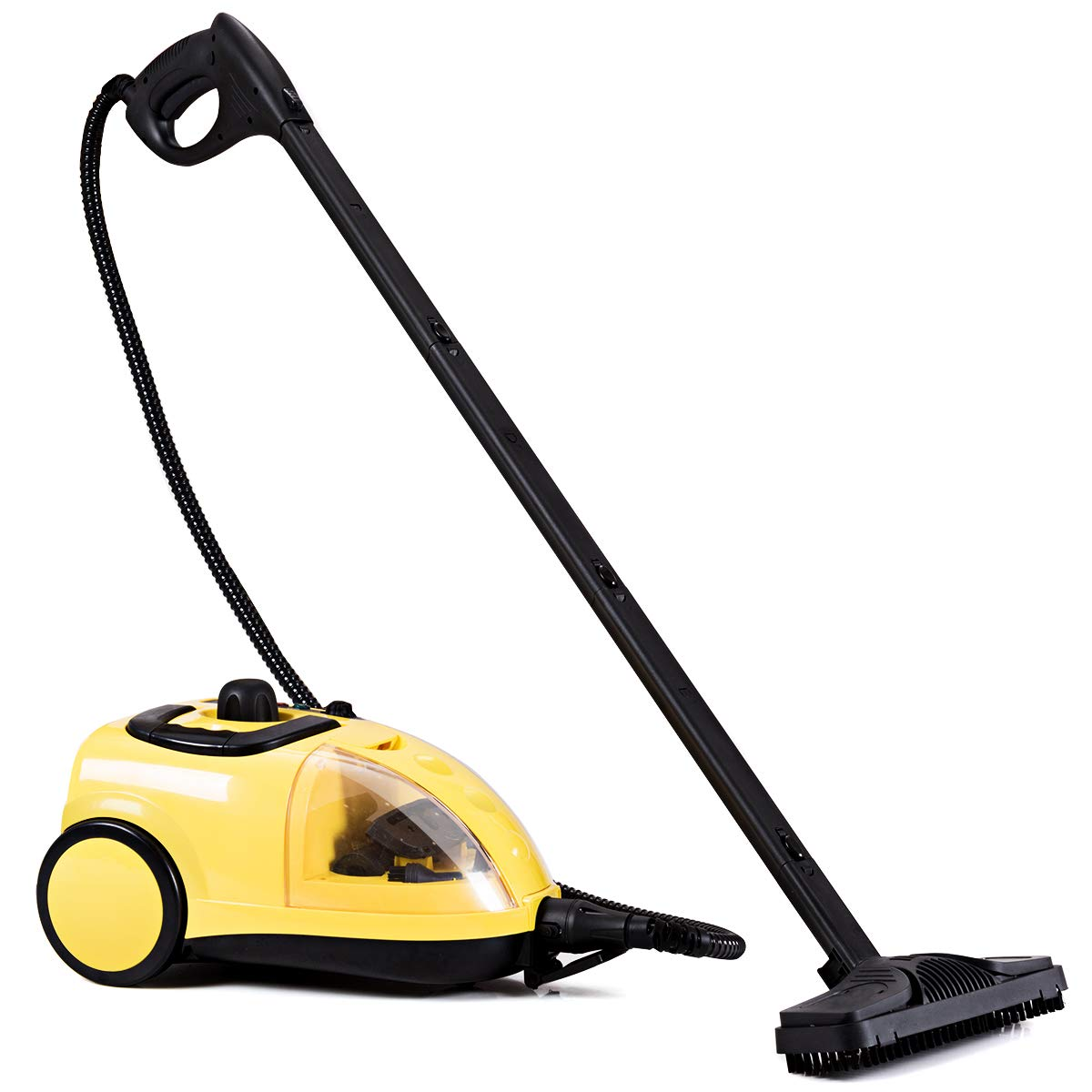 COSTWAY Steam Cleaner, Adjustable Heavy Duty Professional Steam Cleaning, All-Natural, Chemical-Free Cleaning Machine-Included 17 Accessories, Ideal Floors, Windows, 1500W