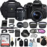 Canon EOS Rebel T6i 24.2MP DSLR Camera Bundle with EF-S 18-55mm f/3.5-5.6 IS STM Lens + 32GB Memory + Camera Bag + 3 Pc Filter Kit + 2.2x Telephoto + 0.43x Macro Close Up Lens + More Accessories