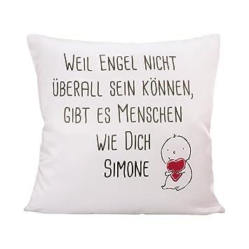 PrintPlanet®   Kissen Mit Eigenem Text Bedrucken   100% Baumwoll Kopfkissen  Selbst Gestalten Mit Namen Oder ...
