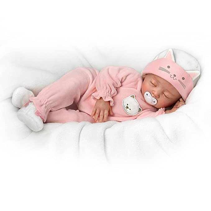 fbefba1a46742b Amazon.com: Katie, My Sweet Little Kitten So Truly Real Lifelike Baby Girl  Doll by the Ashton-Drake Galleries: Toys & Games