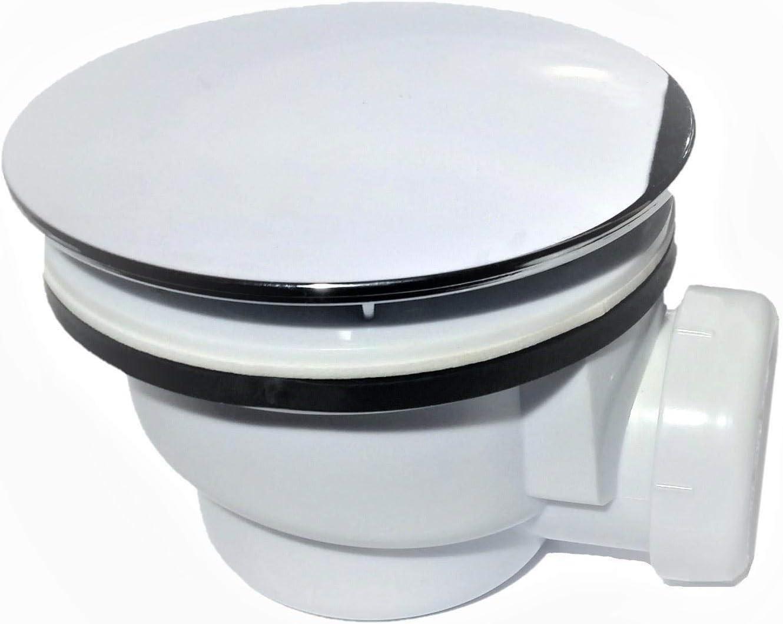 Válvula de desagüe con tapa cromada para platos de ducha de 90 mm ...