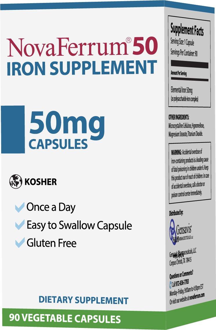NovaFerrum 50 Iron Supplement, 90 Capsules