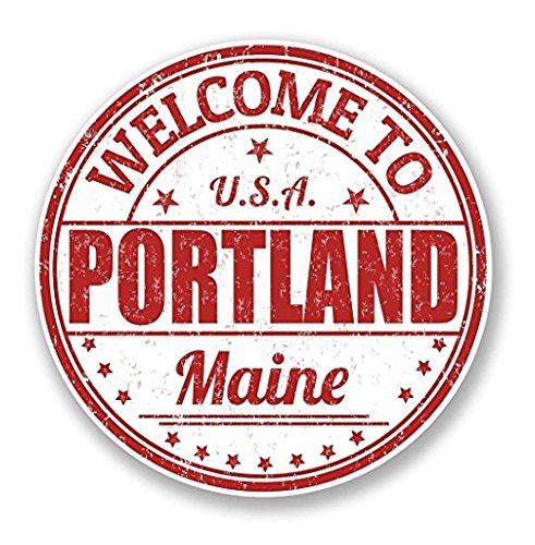Portland Maine USA WINDOW CLING STICKER Car Van Campervan Glass - Sticker Graphic - Auto, Wall, Laptop, Cell, Truck Sticker for Windows, Cars, - Maine Glasses Portland