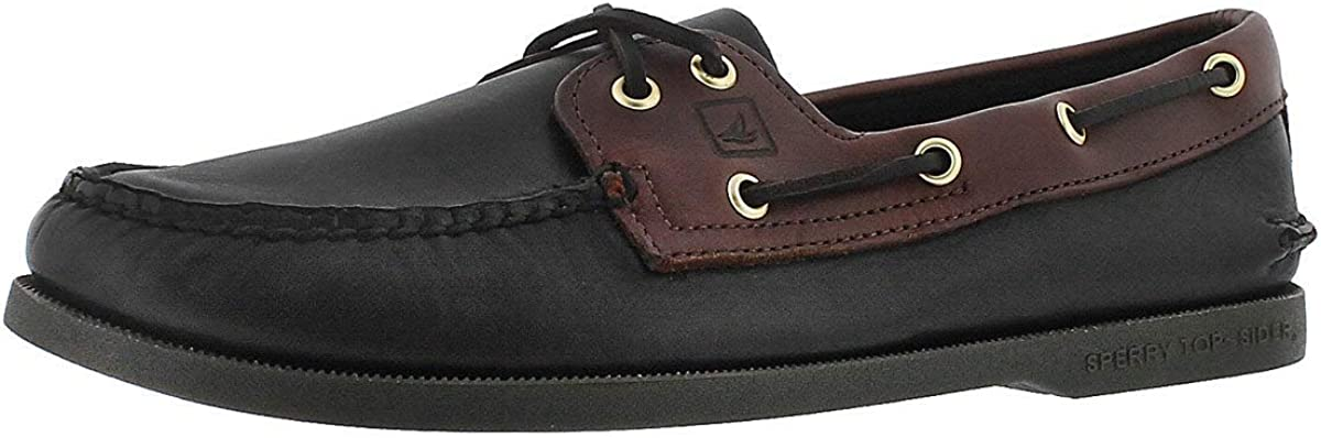 Sperry Top-Sider Mens Authentic Original 2-Eye Boat Shoe Black Brow 10.5 Medium US