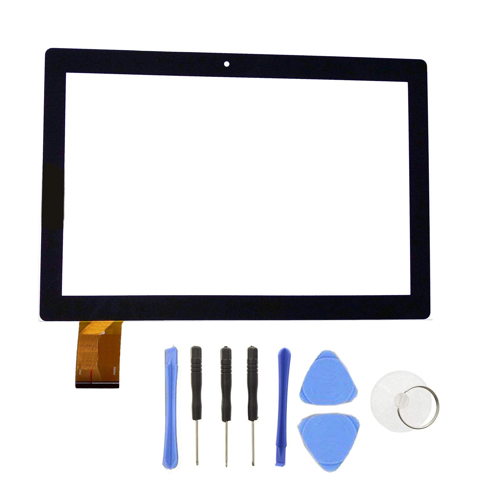 EUTOPING R Touch Screen Panel digitizer Replacement for 10.1 inch Digiland DL1016 with SlyPry Opening Tool kit
