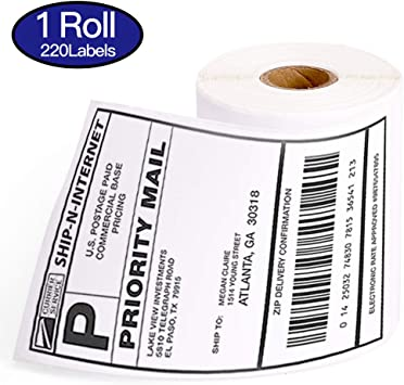 2Rolls, 250//roll LabelX 4 x 6 Direct Thermal Perforated /& Compatible with Zebra /& Rollo Label Printer