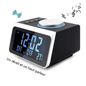 12H / 24H - Monitor LCD de 3,2 Pulgadas 5 Atenuadores de Radio Reloj
