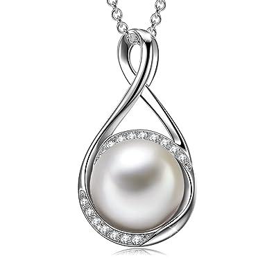 collier femme argent perle