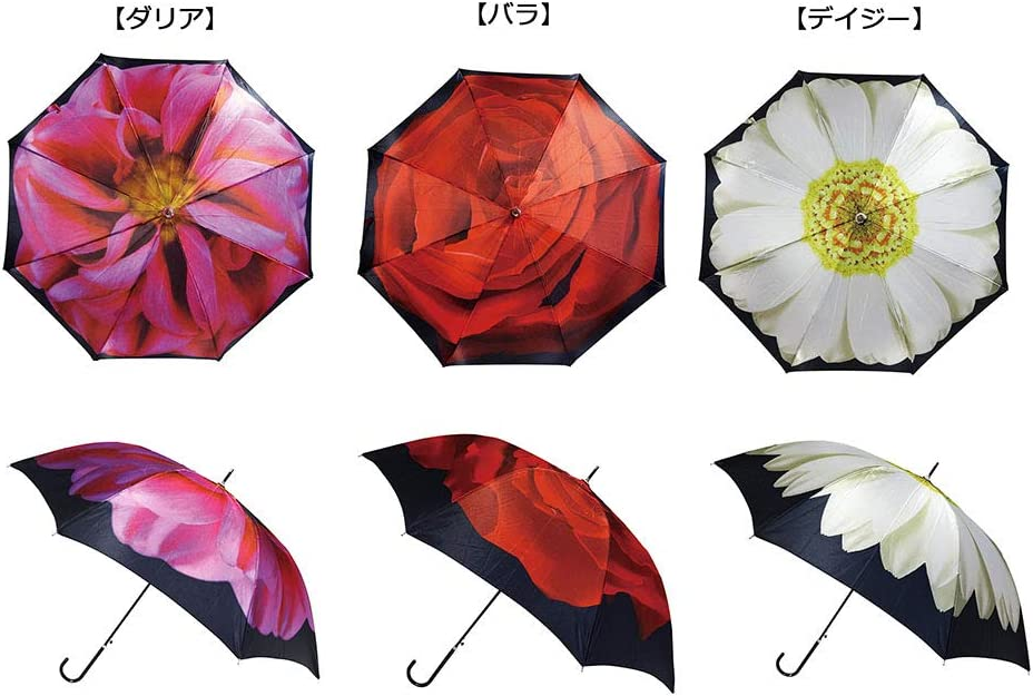 Santos length umbrella art umbrella ribs 58cm satin JK-101 flower Dahlia jump formula