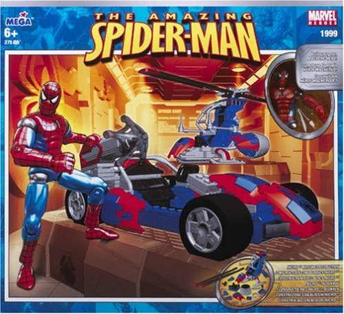 Mega Bloks Magnetic Marvel - The Amazing Spider-man Action Vehicle Set Amazing Spider Man Action Vehicle