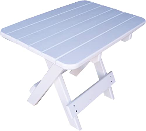 Phat Tommy Recycled Poly Resin Folding Side Table Durable Eco-Friendly. This Patio Furniture is Great for Your Adirondack Chair, Lawn, Garden, Swimming Pool, Deck.