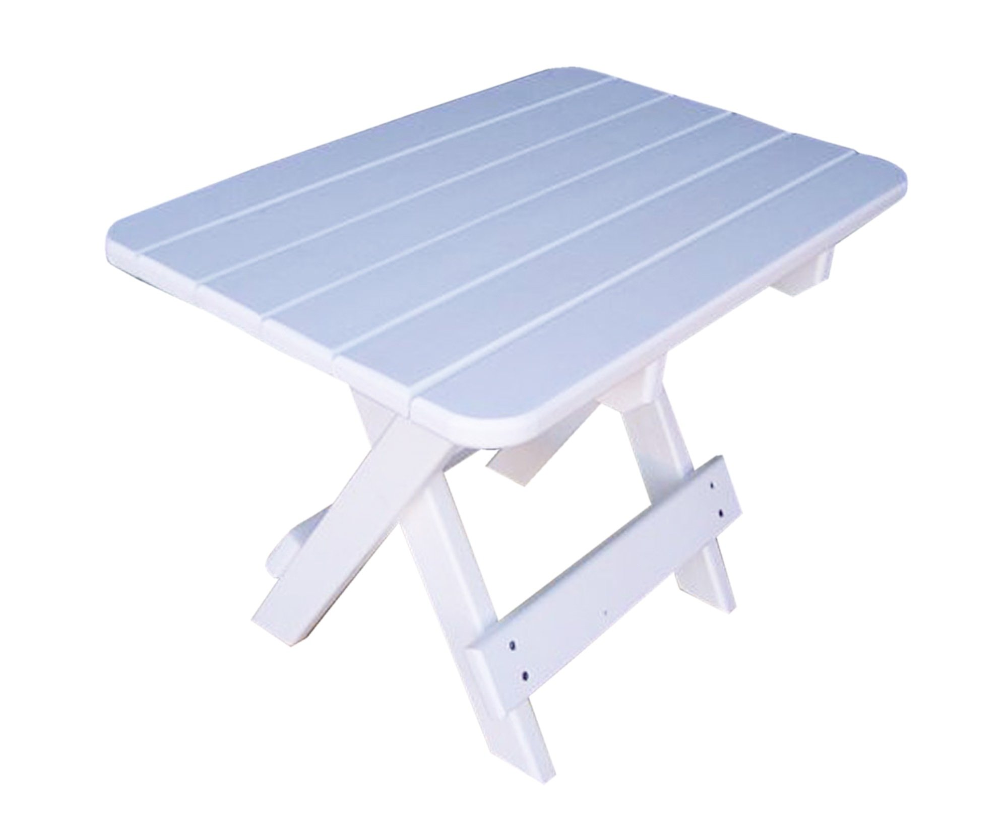 Phat Tommy Recycled Poly Resin Folding Side Table – Durable & Eco-Friendly Patio Furniture matches Adirondack, White