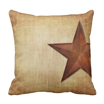 Amazon.com: emvency Throw almohada cover rústico Barn Star ...