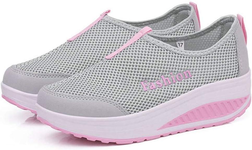 SANOMY Zapatillas con cuña para Mujer, cómodas, para Caminar, Tenis y Tenis: Amazon.es: Deportes y aire libre