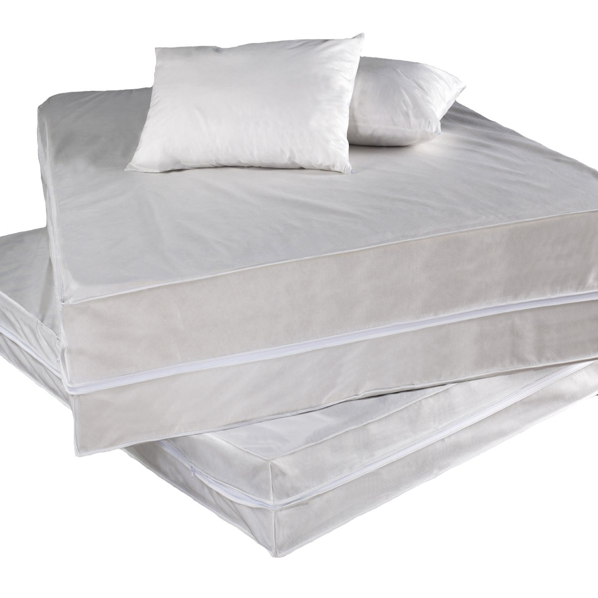 amazoncom permafresh 4piece complete bed protector set queen home u0026 kitchen - Bed Bug Protector