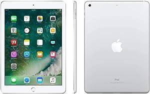 Apple iPad (5th Generation) WiFi , 128GB, Silver (2017 Model) (Renewed)