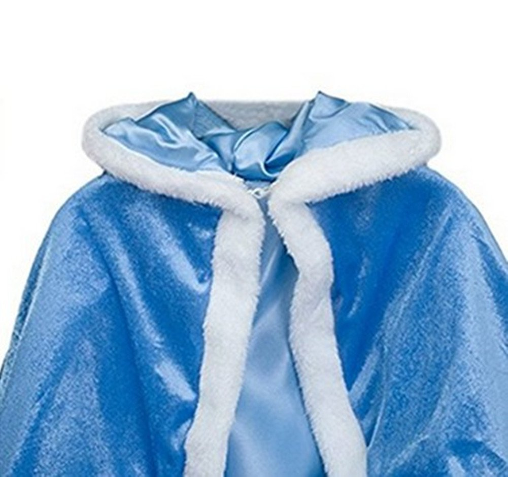 Girls Cape Christmas Halloween Cloak Winter Cape Hoodie for The Height of 120cm by Cleana Arts (Image #3)