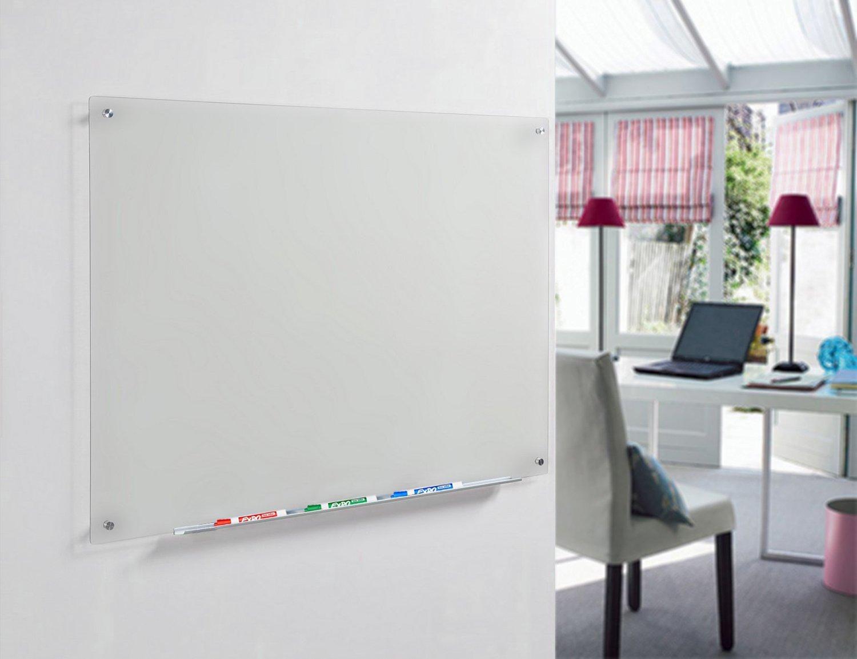 60 cm x 90 cm comprende Bordo e Pennarello Vassoio di Alluminio Secco Cancellare Bordo di Vetro Trasparente 23 5//8 x 35 1//2