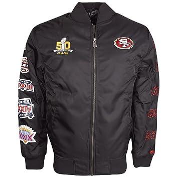 super popular 72d85 50f47 New Era San Francisco 49ers Super Bowl 50 NFL Bomber Jacket ...