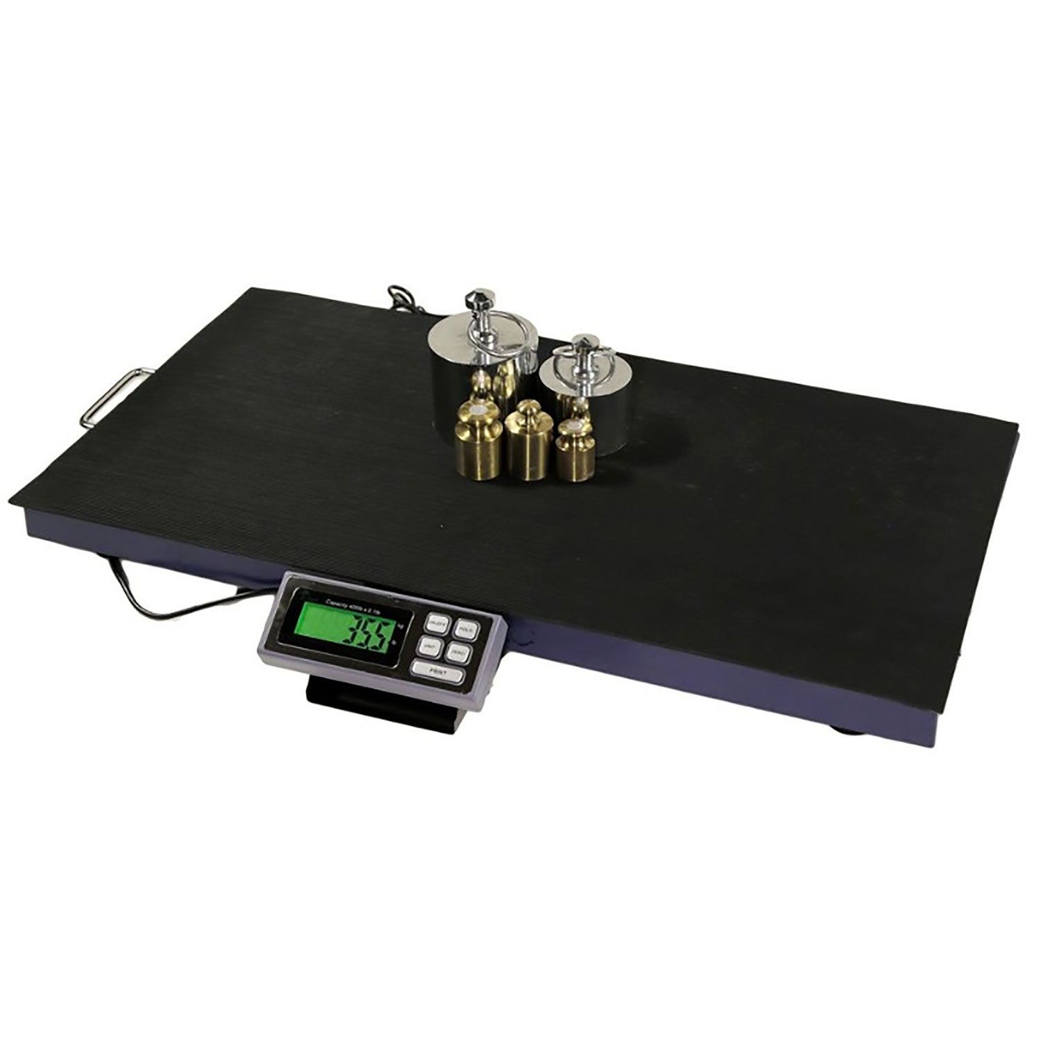 AMSTON SCALES 400 LB x 0.1 LB 38 x 20 Inch Platform Digital Heavy Duty Welded Steel Floor Bench Shipping Scale