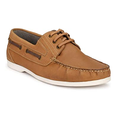 DERBY KICKS Leather Boat Shoes for Men  Buy Online at Low Prices in India -  Amazon.in 33063ecc6c4d