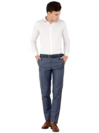 03e8a2915ba SHAURYA-F Regular Fit Men Blue Trouser  Amazon.in  Clothing   Accessories