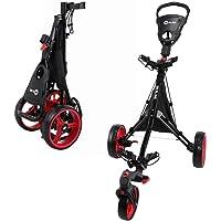 RAM Golf Push/Pull 3-Wheel Golf Cart with 360° Rotating Front Wheel