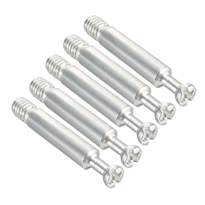 uxcell Furniture Connecting Fitting M6 Thread Bolts Dowels Screws 5 Pcs