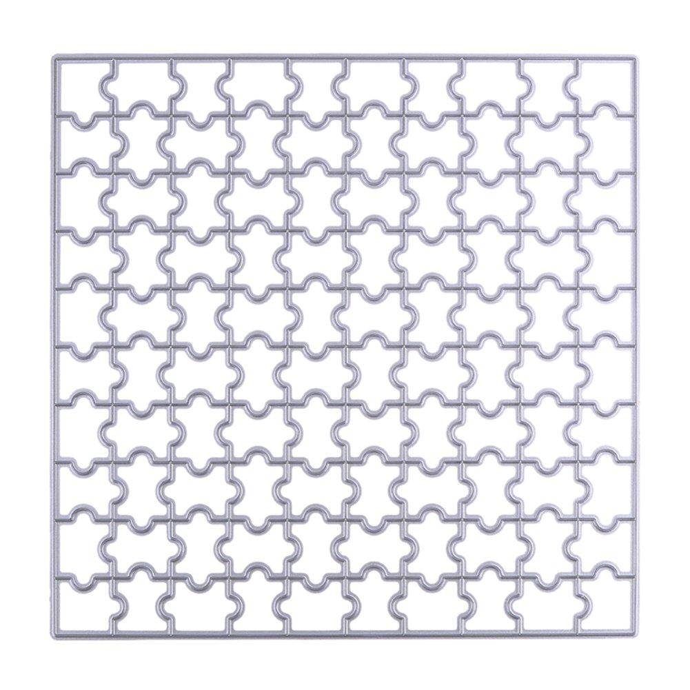 Puzzle plantillas de corte 150mm cuadrado sello de DIY Scrapbooking/álbum de fotos Tarjeta de papel Craft troqueles de corte de metal Stencil Amazingdeal365